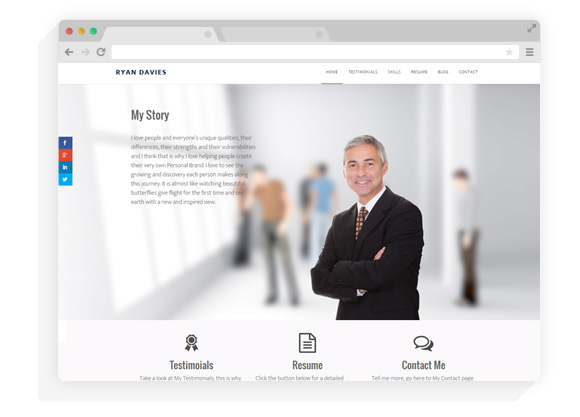 Parallax Pro Personal Branding