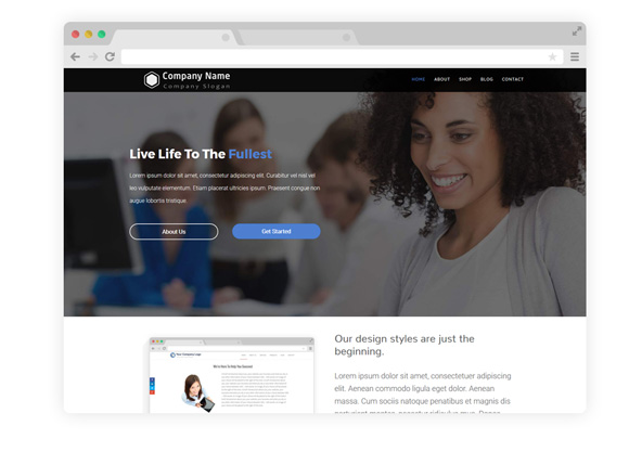 WordPress Theme Five
