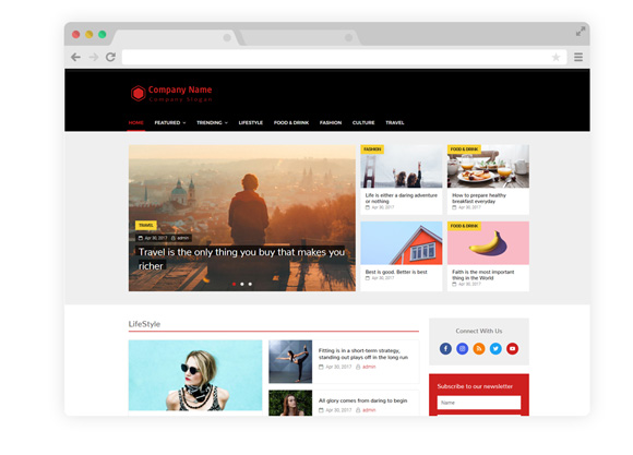 WordPress Theme Three