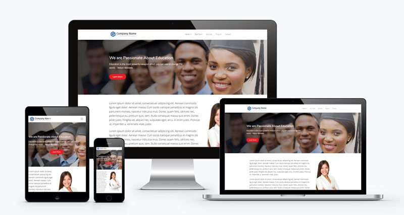 Wide Screen WordPress Website Design